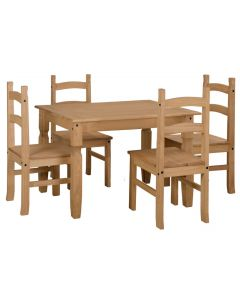 Core Corona Pine 118 Dining Table & Chairs