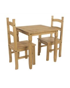 Core Corona Pine Square Dining Table & Chairs