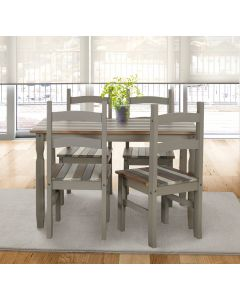 Core Products Corona Vintage Rectangular Dining Table & 4 Chair SET
