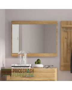 Cortina mirror in Grandson oak at Price Crash Furniture