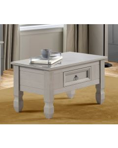 Core Products Corona Compact Grey Coffee Table With Glass Top