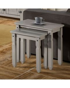 Core Products Corona Compact Grey Nest of Two Tables With Glass Top