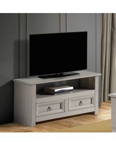 Core Products Corona Compact Grey TV Cabinet With Glass Top