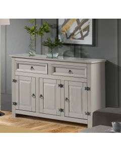 Core Products Corona Compact Grey Medium Sideboard With Glass Top