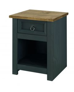 Core Products Corona Grey Carbon 1 Drawer Bedside Cabinet