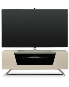 "Chromium 2 TV Stand in Ivory For 50"" TVs by Alphason"