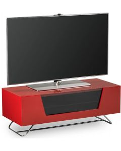"Chromium 2 TV Stand in Red For 50"" TVs by Alphason"