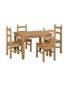 Core Corona Large Dining Table + 4 Chairs
