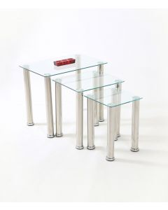 Crystal Clear Glass Nest of Tables