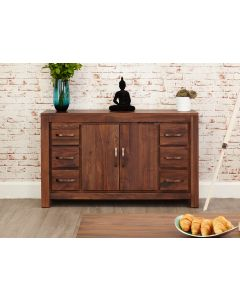 Baumhaus Mayan Walnut Six Drawer Sideboard - CWC02A