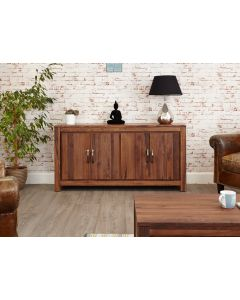 Baumhaus Mayan Walnut Large Low Sideboard - CWC02B