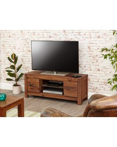 Baumhaus Mayan Walnut Low Widescreen Television Cabinet - CWC09A