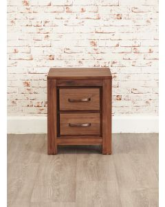 Baumhaus Mayan Walnut Two Drawer Lamp Table - CWC10B