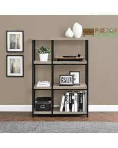 Elmwood grey oak bookcase shelf unit at Price Crash Furniture