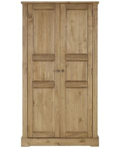 Fara Waxed Pine 2 Door Wardrobe