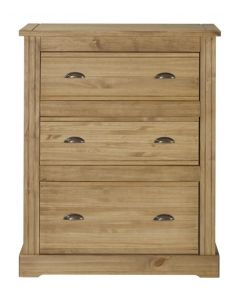 Fara Waxed Pine 3 Drawer Chest