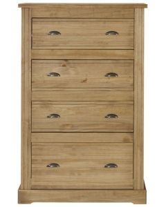 Fara Waxed Pine 4 Drawer Chest
