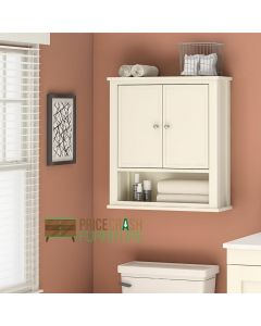 Franklin Storage Wall and Bathroom Cabinet in White by Dorel