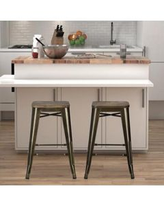 Fusion 24 inch counter stools in bronze at Price Crash Furniture