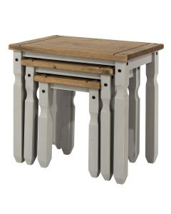 Core Products Corona Grey Washed Nest Of Tables