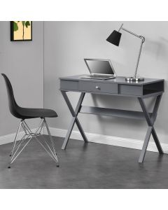 Paxton Laptop Computer Desk in Grey by Dorel