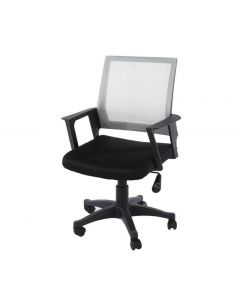 Core Products Loft Home Office Chair In Grey Mesh Back With Black Fabric Seat With Black Base