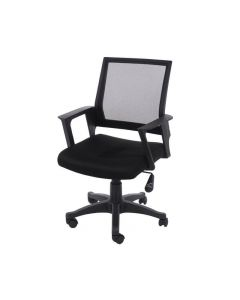Core Products Loft Home Office Chair In Black Mesh Back With Black Fabric Seat With Black Base