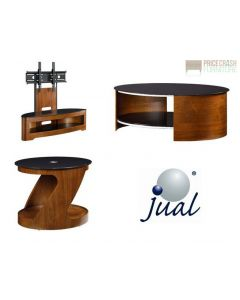 Jual Furnishings JF209 Cantilever TV Stand, Coffee Table & Side Table in Walnut