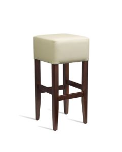 HEAT Bar Stool – ZA.235ST – Dark Walnut – Cream