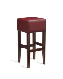 HEAT Bar Stool – ZA.236ST – Dark Walnut – Red
