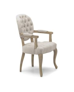 Chambord Nat Carver Chair Washed Legs
