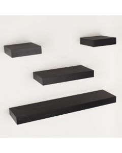 Core Products Hudson Foiled Matt Black Narrow Shelf Kit