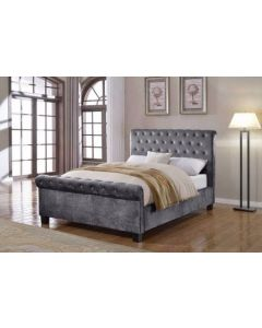 Flair Furnishings Lola Fabric Bedframe Silver Double (4'6)