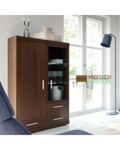 Imperial 2 door 3 drawer glazed display cabinet at Price Crash Furniture