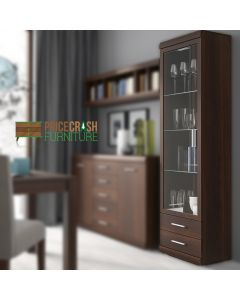 Imperial Mahogany Tall Glazed Display Cabinet at Price Crash Furniture
