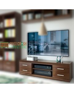 Imperial Wide 4 Drawer TV Cabinet in Dark Mahogany M2elamine