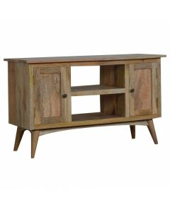 Solid wood TV Stand for TVs up to 41 inch 2 drawers