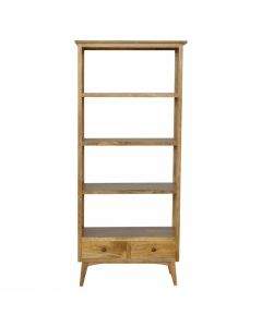 2 Drawer Solid Wood Bookcase