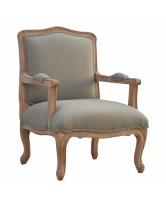 French Styled Upholstered Arm Chair