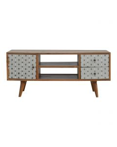 ArtHaus Collection Geometric Printed 2 Drawer Media Unit