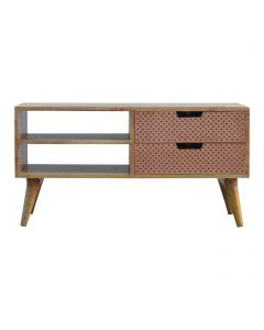 ArtHaus Collection Perforated Copper Front Nordic Style Media Unit