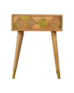 ArtHaus Collection Brass Inlay 1 Drawer Bedside