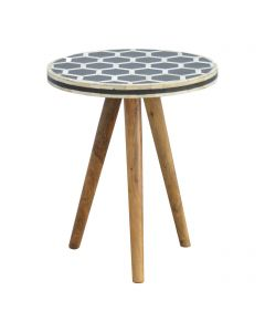 ArtHaus Collection Bone Inlay Tripod Stool