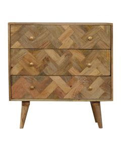 3 Drawer Patchwork Patterned Chest