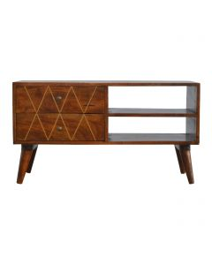 ArtHaus Collection Brass Inlay Media Unit