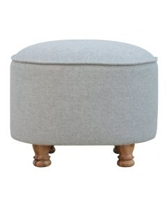 Nimes Collection French Grey Oval Footstool
