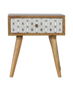 ArtHaus Collection Geometric Printed Bedside