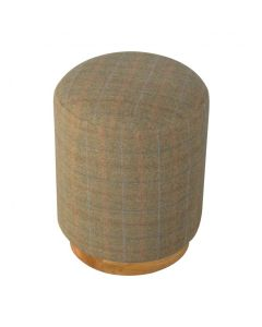 Multi Tweed Round Footstool