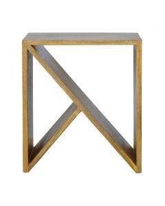 ArtHaus Collection V-Shaped Nordic Style Geometric Library Side Table