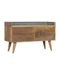 Bone Inlay Gallery Back TV Stand at Price Crash Furniture. Matching items & free delivery also available.